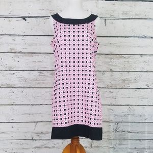 Retro Style Pink & Black Dress